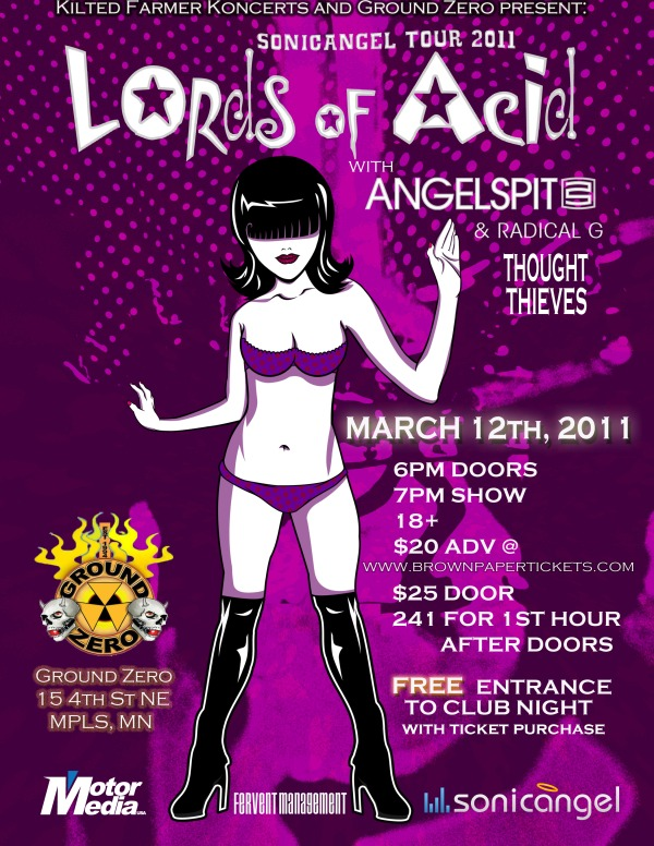 sonic angel tour 2011