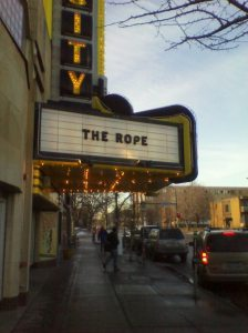 The Rope Varsity Theater Marquee