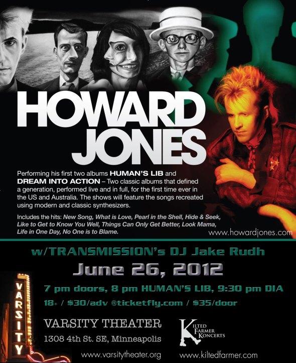Howard Jones Minneapolis Classic Albums flyer