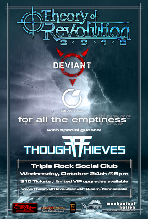 Theory of Revolution MN Tour Flyer