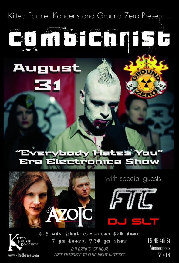 Combichrist August 31 Poster