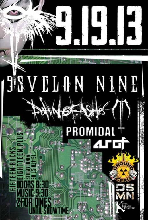 Psyclon Nine & Dawn of Ashes flyer