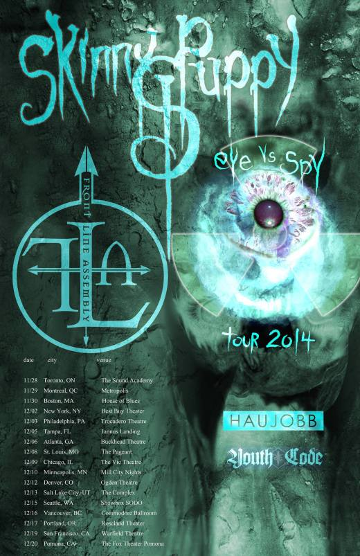 Eye vs Spy 2014 tour poster