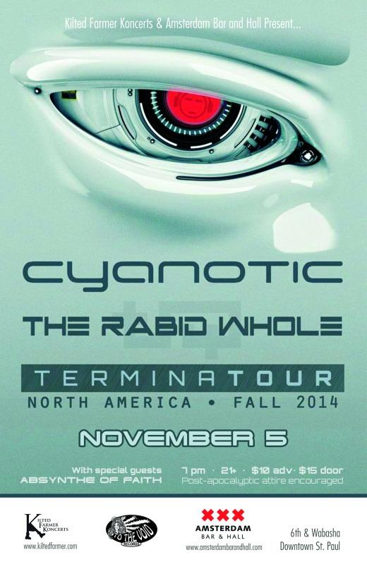 Cyanotic TerminaTOUR 2014 flyer