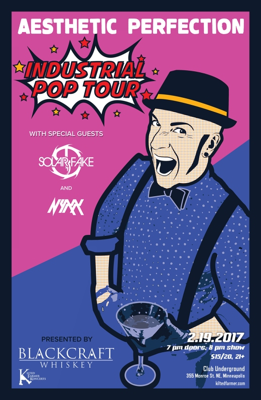 Industrial Pop Tour 2017 poster