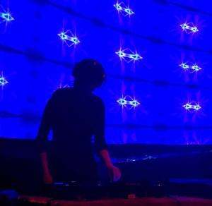 DJ Hyperkarma in silhouette